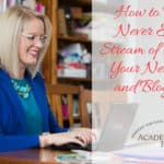How to Find a Never Ending Stream of Ideas for Your Newsletter and Blog Posts- Image Webinar