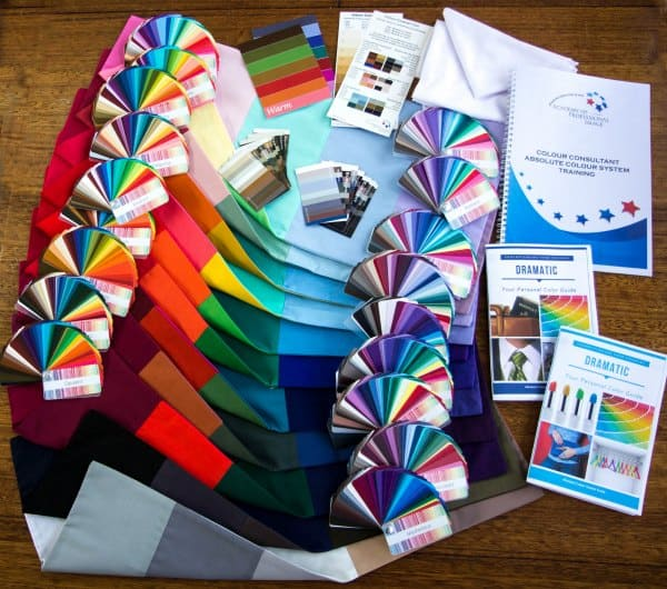 Academy of Professional Image Colour Tools included with all Personal Colour Analysis Training Programs