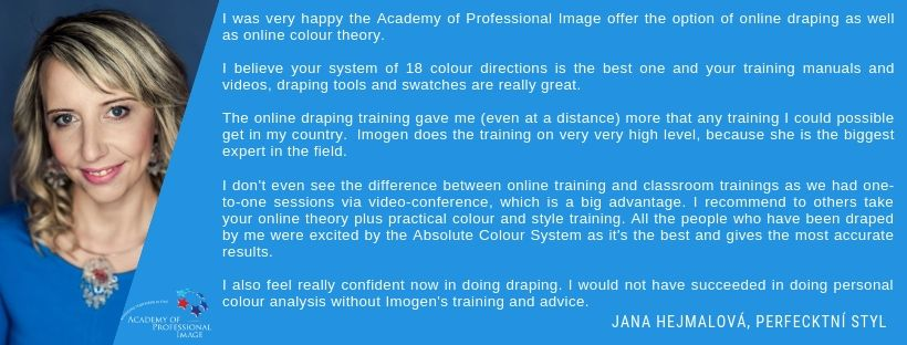 Online personal colour analysis training testimonial